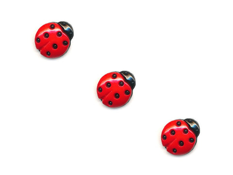 Ladybird Shaped Buttons - 099-Deramores