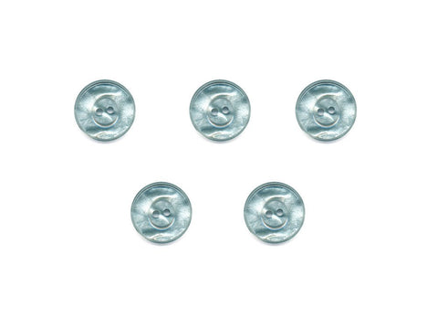 Round Pearlescent Thick Rimmed Buttons - Green - 1004