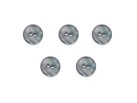 Round Shell Buttons - Silver - 1009