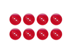 Fish-Eye Buttons - Red - 057