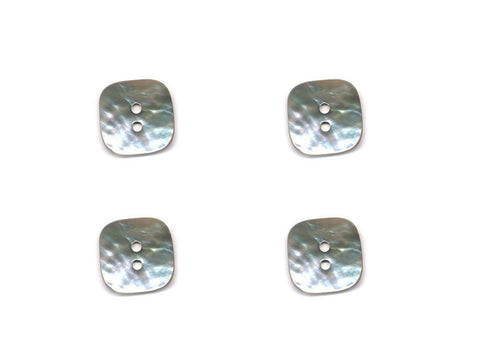Square Shell Buttons - Grey - 1019