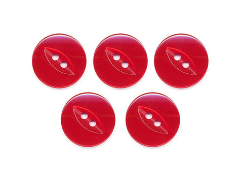 Fish-Eye Buttons - Red - 102-Deramores