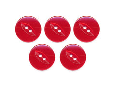 Fish-Eye Buttons - Red - 102