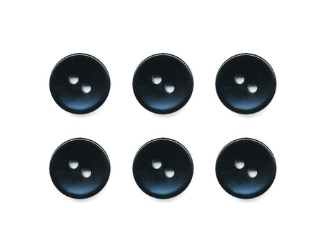 Round Plain Buttons - Black - 1032