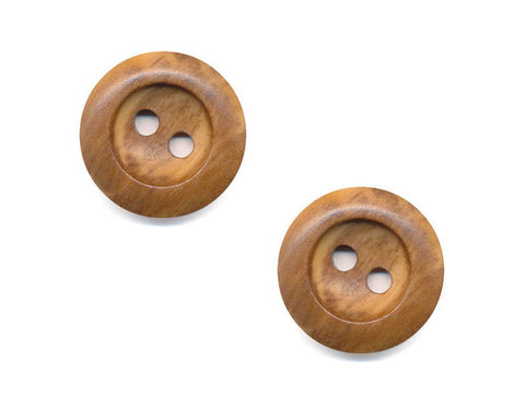 Round Rimmed Wood Effect Buttons - 1061