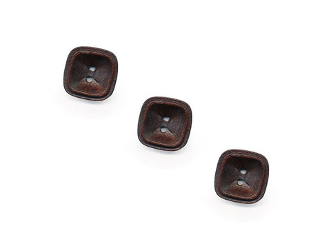 Square Rimmed Wooden Buttons - 1075