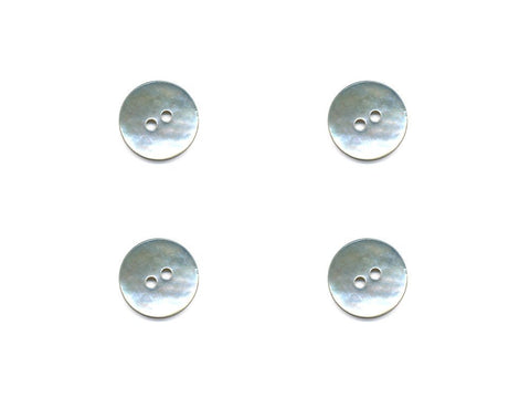 Round Shell Buttons - Silver - 1084