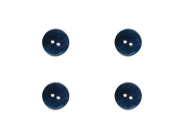 Round Shell Buttons - Blue - 1085