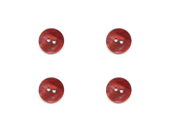 Round Shell Effect Buttons - Orange - 1099
