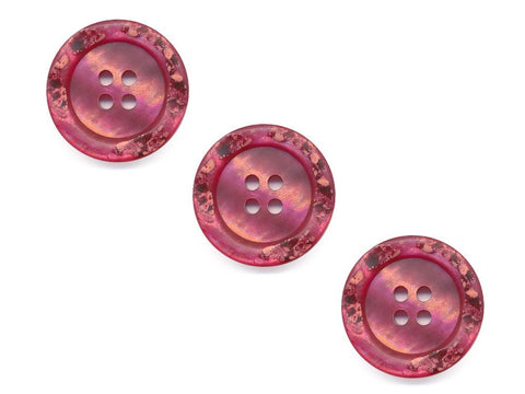 Rimmed Broken Paint Effect Buttons - Pink - 114