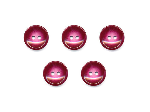 Round Pearl Effect Buttons - Purple - 120