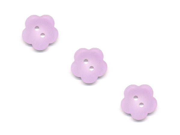 Flower Buttons - Purple - 123-Deramores
