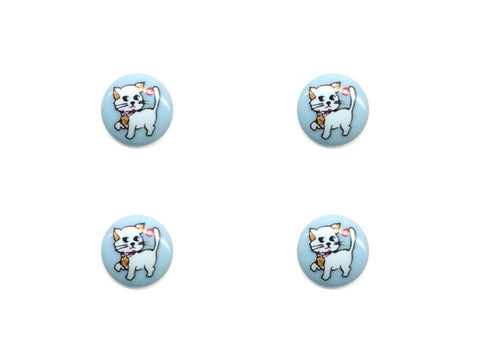 Round Novelty Buttons - Cat - 145