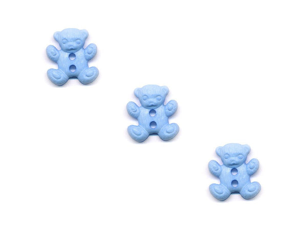 Teddy Bear Shaped Buttons - Blue - 153