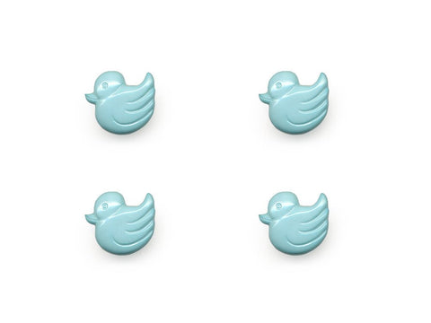 Duck Shaped Buttons - Blue - 156-Deramores