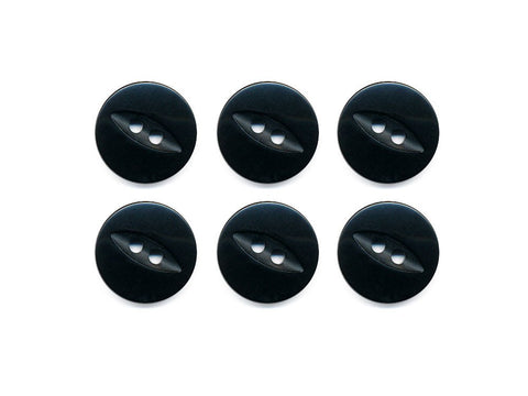 Fish-Eye Buttons - Black - 198-Deramores