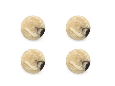 Round Shell Effect Buttons - Beige - 234