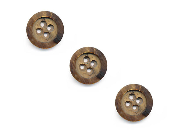 Wood Effect Buttons - Brown - 250