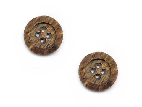 Wood Effect Buttons - Brown - 251