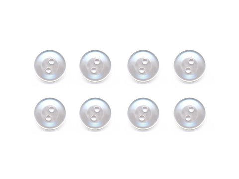 Pearlescent Rimmed Round Buttons - White - 281