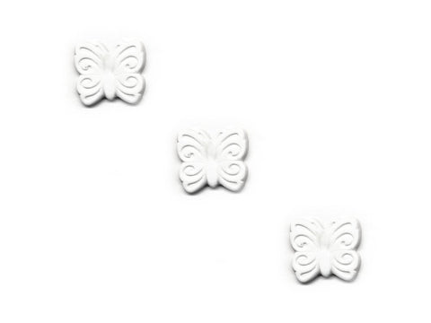 Butterfly Shaped Buttons - White - 304-Deramores
