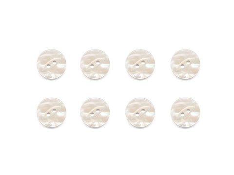 Fish-Eye Pearl Effect Buttons - Cream - 305-Deramores