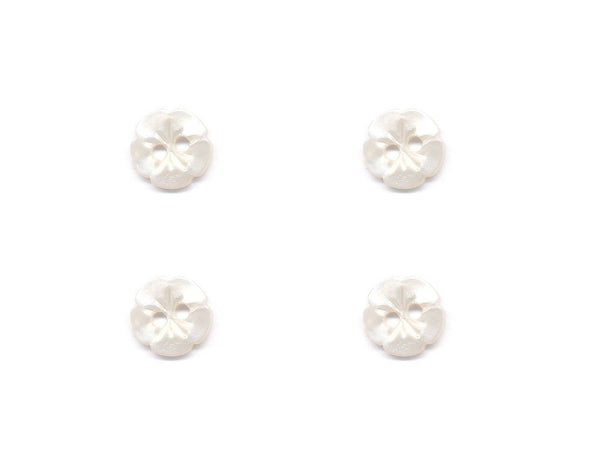 Flower Buttons - Cream - 323-Deramores