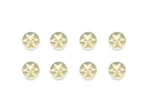 Round Flower Effect Buttons - Yellow - 083