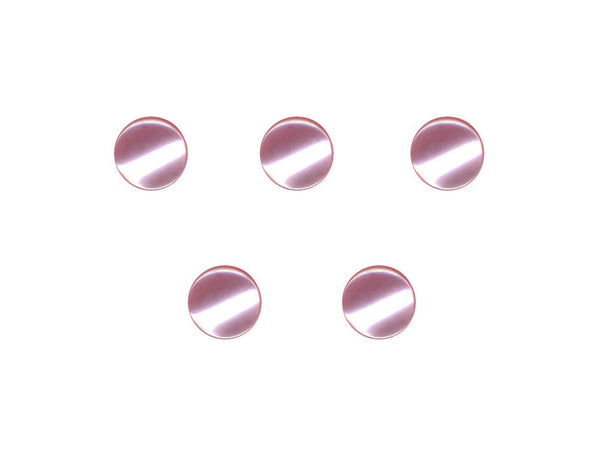 Round Pearl Effect Buttons - Pink - 362