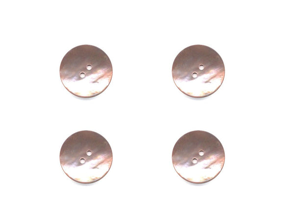 Round Shell Buttons - Pink - 369