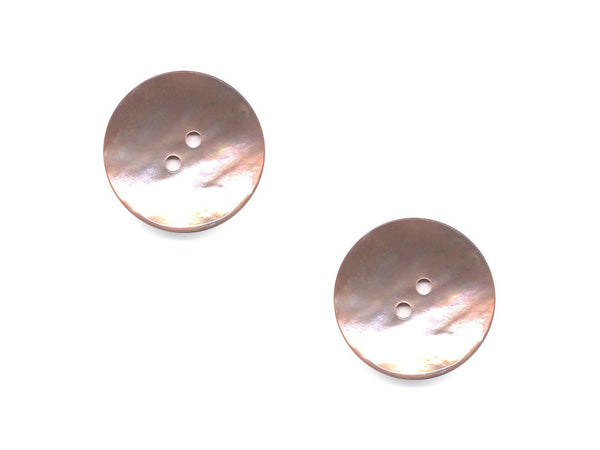 Round Shell Buttons - Pink - 371