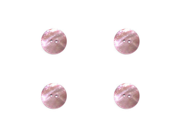 Round Shell Buttons - Pink - 393