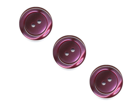 Pearlescent Rimmed Round Buttons - Purple - 401