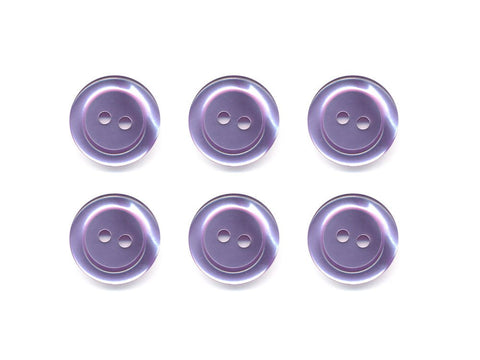 Pearlescent Rimmed Round Buttons - Purple - 407