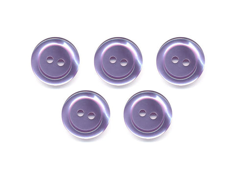 Pearlescent Rimmed Round Buttons - Purple - 408