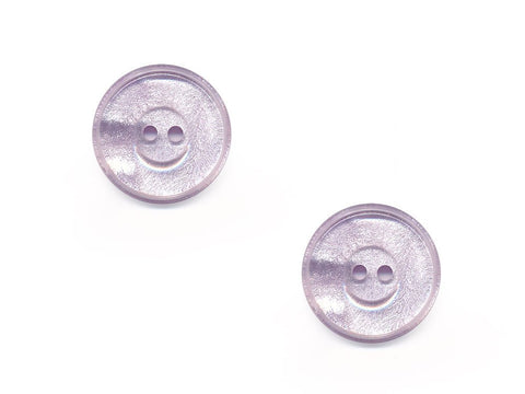 Round Pearlescent Thick Rimmed Buttons - Purple - 416