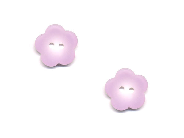 Flower Buttons - Purple - 418-Deramores