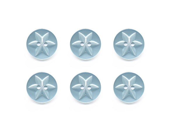 Round Flower Effect Buttons - Blue - 077