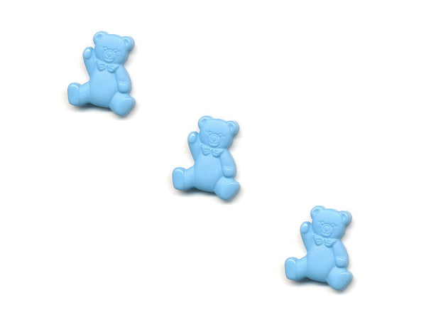 Teddy Bear Shaped Buttons - Blue - 431