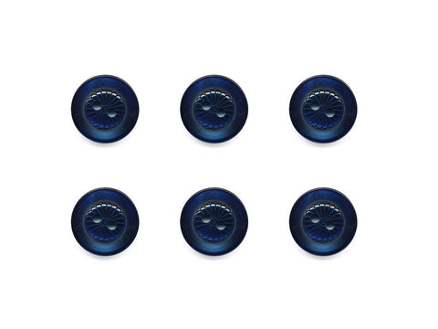 Round Petal Detail Buttons - Blue - 435