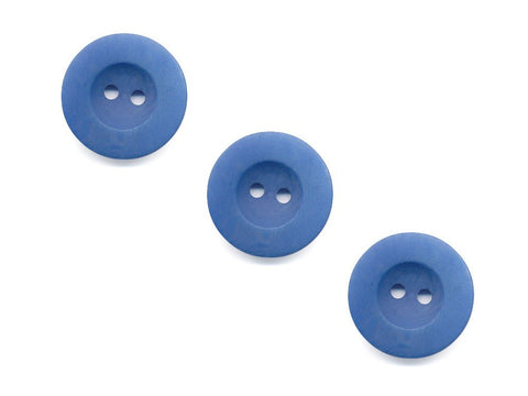 Round Rimmed Wood Effect Buttons - Blue - 438
