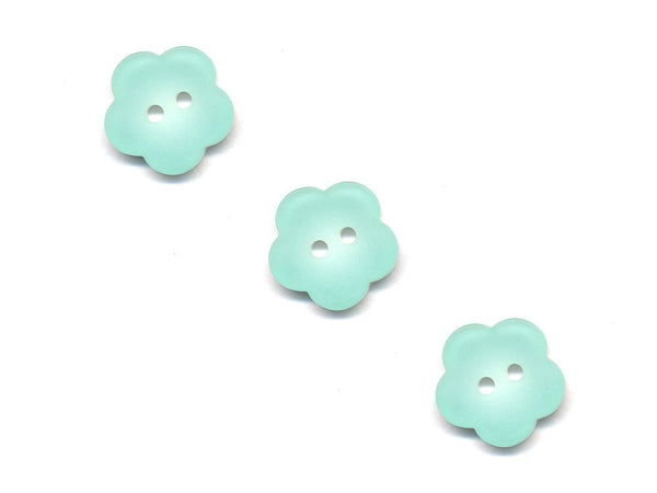 Flower Buttons - Green - 501-Deramores