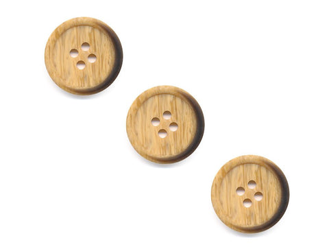 Round Wooden Burnt Effect Buttons - 525