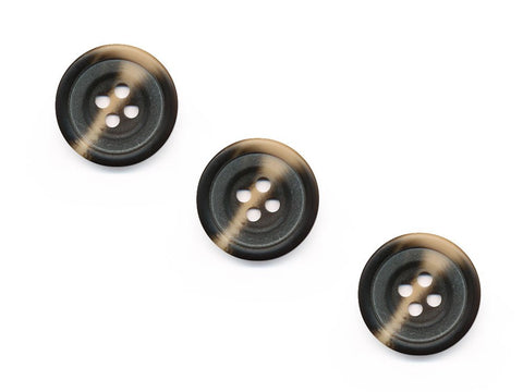 Round Rimmed Wood Effect Buttons - Brown - 538
