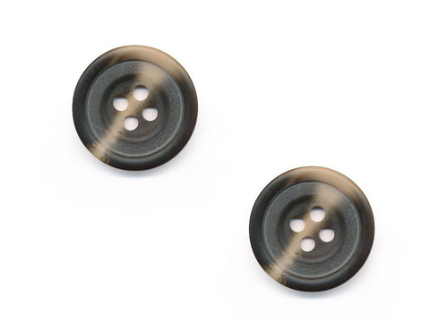 Round Rimmed Two-Tone Buttons - Brown & Beige - 539
