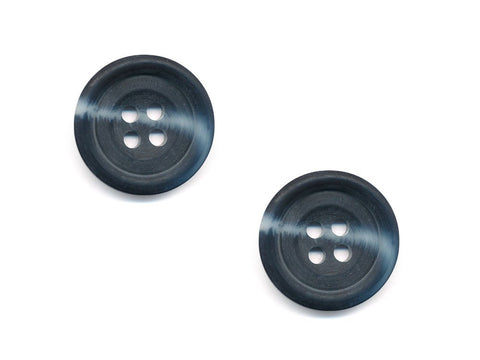 Round Rimmed Two-Tone Buttons - Black & Grey - 546