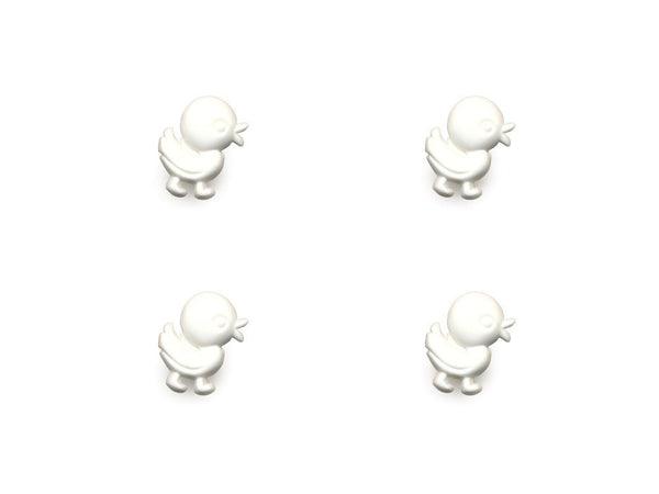 Duck Shaped Buttons - White - 846-Deramores