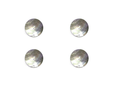 Round Shell Buttons - Silver - 872