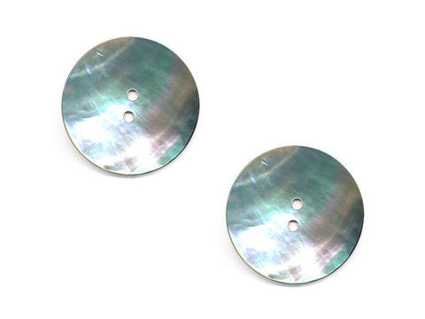 Round Shell Buttons - Silver - 875