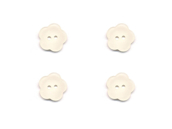 Flower Buttons - Cream - 880-Deramores